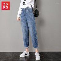 Kadın kot pantolon zsrs kadınlar için anne yüksek bel elastik artı boyutu streç kadın yıkanmış denim sıska kalem pantolon1