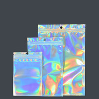 Película con láser Yin Yang Bolsa de hueso Caja de teléfono móvil Aluminizado Bolsa de sellado de sellado translúcido Bolsa de plástico de joyería Joyería Joyería Teléfono móvil CAS