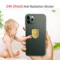 La forma-Shield Nuovo oro 24k EMF protezione solare Fiore anti-radiazioni Sticker Quantum Energy Mobile Phone Sticker