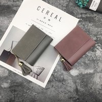 Damen Kurzmetallknopf Frosted Spleißen 3% Mode Brieftasche Neue Student Simple Multi Card