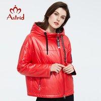 Astrid 2020 Frühlings-Frauen Parka mit Kappe Design Dünne Baumwollbeiläufiges Oberbekleidung hohe Qualität Kurze Kleidung Leuchtende Farbe ZM-3083