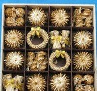 나무 장식품 세트 밀 짚 짠 축제 장식 크리스마스 장식 판매 온라인 크리스마스 장식 ZGOX # jllotex home003