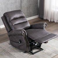 US Stock Ascensore elettrico Ascensore Sedia reclinabile per anziani classici divano singolo Sedia reclinabile con nailhead Trim W50123868