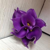 ВМС Blue Picasso Calla Lilies Real Touch Flowers для свадебных букетов Церешники Искусственные цветы для свадьбы 183 к2