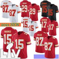 15 Patrick Mahomes Homens Jerseys de futebol 87 Travis Kelce 32 Tyrann Mathieu Edwards-Heleir 17 Hardman Hot Sale 2021 Novo
