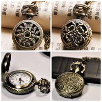 50 pcs Novo pequeno pequeno séries de bolso relógio de quartzo modelo 27x27mm colar vintage jóias relógio de moda coreano edição camisola de camisola