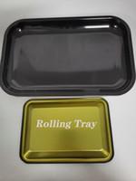 Fai da te di rotolamento vassoio di metallo Il fumo di sigaretta dischi Vassoio di rollaggio Herb Tabacco latta piastra fumo di sigaretta vassoio carta libera il trasporto