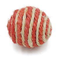 Circular Suministros para mascotas Punto de tejer Tease Cats Toy Toy Sisal Balls Molar Alivio Aburrimiento Juguetes Juguetes Sisal Bolas PET juguete 0 6Mya J2
