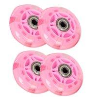 4Pcs Inline Roller Skates, Roller Flashing Räder, verschleißfeste PU-Material, Weichgummi, Stilles Licht
