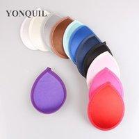 """Envío gratis 5.2 """"(13 cm) 12 colores Tela satinada Mini Top Fascinator Sombreros Nice Fascinator Bases DIY Accesorios para el cabello 36 Pieces / Lot1"""