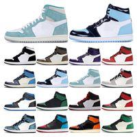 Hotsale Mens scarpe da ginnastica scarpe da basket 1s UNC Obsidian tura torsione verde fumo grigio chiaro Chicago Mens delle donne di sport scarpe da ginnastica di moda all'aperto