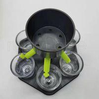 6 Shot Glass Dispenser Держатель Вечеринка Питьевая Диспенсера Бар Аксессуары Вина Виски Пиво Диспенсер Стойка с 6 чашками Rra4110