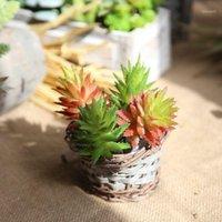 نبات اصطناعي نبات أخضر زهرة الألوة النضول نبات زفاف الديكور المنزل حديقة خلفية زهرة جدار التصوير 1