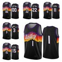 FénixSóisHomens Chris Devin Deandre Booker Ayton Paul Top 2020/21 Boningman City Basketball Jersey Negro Novo Uniforme