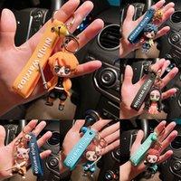 애니메이션 악마 슬레이어 키 체인 귀여운 Brinco 블레이드의 유령 열쇠 고리 코스프레 펜던트 카마도 황갈색 같은 쥬얼리 팬 선물 DHL 무료