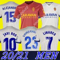 20 21 Real Zaragoza Home Trikot 2020 2021 Shinji Kagawa André Pereira Alberto camisetas de futbol Mann-Fußball-Hemden weg