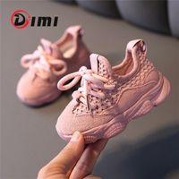 Dimi Autunno Baby Girl Boy Toddler Scarpe Infant Casual Scarpe da corsa scarpe morbide Confortevole Traspirante Bambini Sneaker 201222