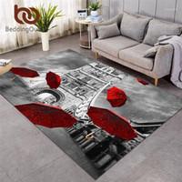 Beddingoutlet rouge parapluie rouge Grand tapis pour salon Angleterre London Plancher Tap Tour Pont sur la Tamise River Tapis 152x244cm1