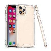 Casos Acrílico claro silicone para iPhone 12 Mini 11 Pro Max 6 7 8plus XS XR Samsung S9 S10 S11 S105G