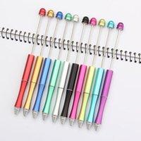ABS البلاستيك مطرز القلم الأصلي الخرزة الأقلام diy حبر جاف القلم مطرز كريستال القلم تخصيص الحرفية أداة الكتابة LX3796