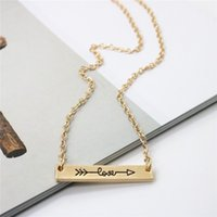 Гениальные Lovers ожерелье Love Letters ожерелье сплава Стрелка через сердце короткой цепью ожерелье подарка ювелирных изделий