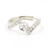 Оптовая продажа S925 серебряные кольцевые аксессуары жемчужное кольцо SS устриц жемчуги монтаж регулируемый классический циркон кольцо высокого качества PS4MJZ028 Cryla