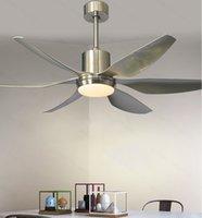 66-дюймовый LED Nordic большая страна промышленный ветер потолочный вентилятор свет DC американский ретро дистанционный ресторан гостиной потолочный вентилятор