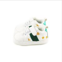 2021 Scarpe da bambino Neonati Ragazzi Ragazze Primo camminatore per bambini Toddlers PU Sneakers Scarpe bianche