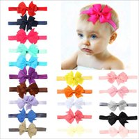 Wholesale 20colors Mix Baby Ribbon Hairbands Fashion Europea...