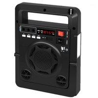 Solarenergieangebote FM Radio TF USB-Lautsprecher Outdoor Power Bank mit starken LED EU-Plug Black1