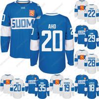 2016 Copa do Mundo de Hóquei Finlândia Team Jersey Rinne Laine Korpikoski Donskoi Pokka Aho Koskinen Lepisto Homens Mulheres Juventude Personalizado Hoceky Jerseys
