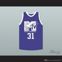 NCAA REGGIE Miller 31 Баскетбол Джерси Первый Ежегодный рок N 'Jock B-Ball Jam 1991-1 Пользовательское любое имя Любое число