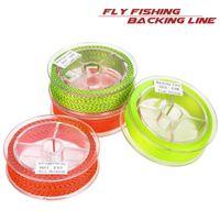 100m Fly Fishing Backing Linha Floating 20LB 8 Vertentes Nylon corda trançada forte linha de extensão Voar Pesqueiro Acessórios