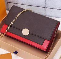 Flore سلسلة محفظة أفضل نسخة الجمع بين قماش المغلفة مع قفل زهرة جلد العجل كبيرة كبيرة للهواتف الذكية حقيبة crossbody أو حقيبة الكتف
