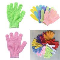 Handschuh Badetuch Tuch Elastic Fünf-Finger-Waschlappen Badezimmer Wash Dusche Clean Body Fäustlinge Handtücher Multi Color 0 55qq G2