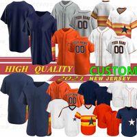 2021 New Baseball Jerseys 27 Jose Altuve 2 Alex Bregman Carlos Correa Nolan Ryan George Springer 사용자 정의 Jeff Bagwell Chipper Jones