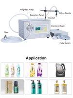 Dhl kostenlos! 50-3500ml halbautomatische flüssige ätherische Ölmilchwasser-Füll- und Waagen-Magnetpumpe-Flaschenfüllmaschine