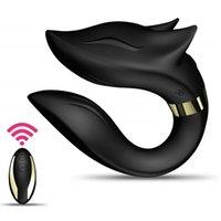 Clitoral Vibromator G Spot Vibromassateurs portables C Stimulateur de forme Stimulateur adulte Jouets avec télécommande pour femmes et couples Y200410