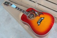 Freies Verschiffen Palisander-Fingerboard Kolibri-Taube 41-Zoll-Akustikgitarre kann Fishman Guitar hinzufügen