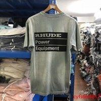 Sürüm Rhude Güç Ekipmanları T Gömlek Erkekler Kadınlar Kravat Boya Rhude T-Shirt Vintage # 5T3B
