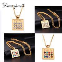 Dawapara judaica 12 tribos preenchido colar de pingente antigo prateado / dourado religioso talismã sobrenatural amuleto jóias1