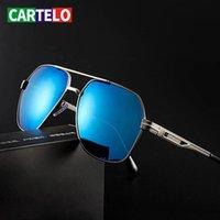 Güneş Gözlüğü Cartelo Erkekler Polarize Açık Rahat erkek Gözlük Sürücü Sürüş Toad Ayna Özel UV400