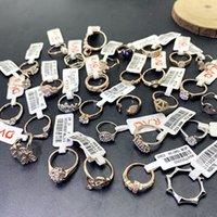 Venta al por mayor 50 anillos mixtos, anillos de diamante de moda para hombres y mujeres, joyería de moda, regalos del día de San Valentín Micro con incrustaciones de zircon Jewelry 03