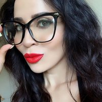 Fashion Cat Eye Glasses Frames For Women Sexy Metal Frame Br...