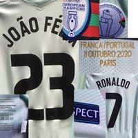 2020 Match Worn Jogador Edição Ronaldo Joao Felix Maillot com Detalhes do jogo Bernardo B.fernandes Futebol Patch Badge