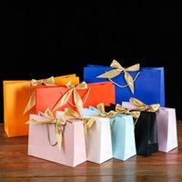 Borsa da imballaggio in fondo al piano di imballaggio di colore solido color seta nastro di seta borse da imballaggio imballaggio pacchetto pacchetto regalo partito colorato 2 3kz N2