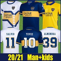 2020 Boca Juniors Jersey de football Carlitos Tevez Maradona Football Shirts de Rossi Salvio Abila Uniformes de football Boca Juniors Kit 20/21