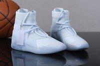 흰색 x 하나님에 대한 두려움 1 순수한 백금 돛 남자 농구 스포츠 신발 하나님에 대한 두려움 1 Noir Mens 트레이너 운동화