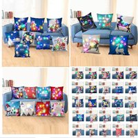 49styles Led Light Luminous Pillow Case Christmas Santa Clau...