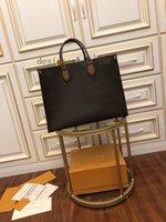 2021 Moda Onthego M44576 Kadın Lüks Tasarımcılar Çanta Gerçek Deri Çanta Messenger Crossbody Omuz Çantası Kılıf Çanta Cüzdan Sırt Çantası